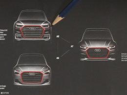 前脸造型凶悍 全新一代奥迪A6设计草图