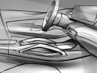 全新奔驰GLE内饰设计草图 搭大尺寸屏幕